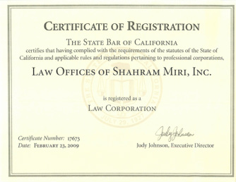 About our Office - Law Offices of Shahram Miri, Inc.,A California ...